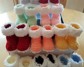 wool baby boots 0/3 months