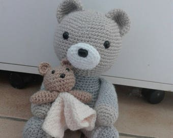 Teddy bear with toy are