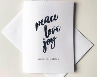 Greeting Card - Christmas / Peace Love Joy