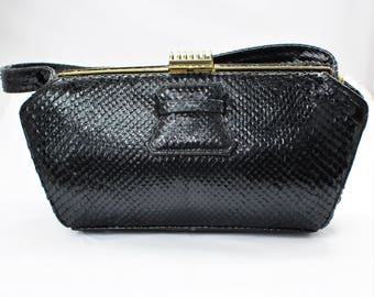1960'S Stylish Snakeskin Bag