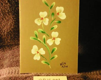 YELLOW FLOWERS On brown Greeting Card