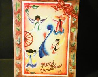 MADONNA & ANGELS Christmas Greeting Card