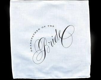 Grandfather of the Groom Handkerchief