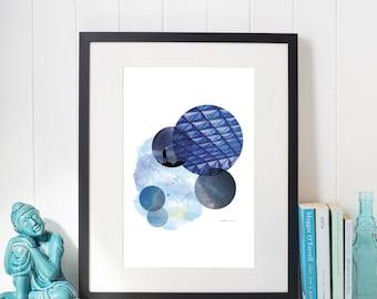 Blue Mood Poster Print Art