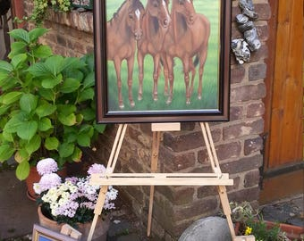 oil painting horses 48 x 58 cm New Price Euro 150, 00