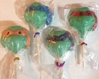 FAST SHIPPING TMNT Ninja Turtles Chocolate Lollipops
