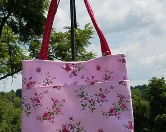Handmade Floral Purse/ Tote Bag