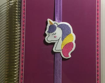 Unicorn Head Planner Band/Bookmark