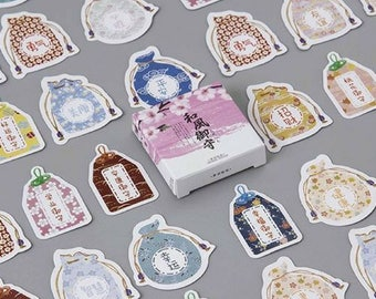 45 Pc Pk Fortune Bag of Wealth & Good Luck Mini Stickers ~ Feng Shui Deco Sticker, Scrapbooking, Stationery, Chinese Stickers, China Sticker