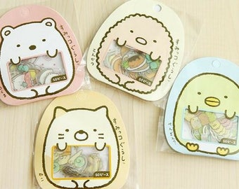 50 Pc Pk Sumikko Gurashi Stickers ~ Japanese Cartoon Stickers, Kawaii, Cute Stationery, Scrapbooking, Tonkatsu Shirokuma Penguin Cat Friends