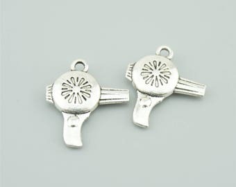 10pcs 23x20mm Antique Silver Hairdryer Charm Pendants LJ2320
