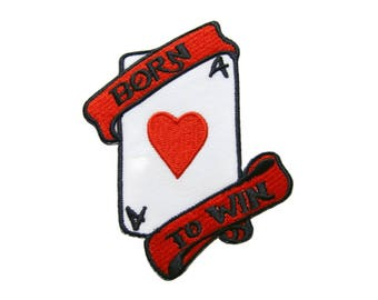 Aces Playing Cards Biker Retro Poker Applique Embroidered Iron on Patch