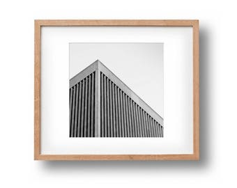 architectural print square print geometric print bw wall decor black and white print architecture art minimalist wall art square wall art