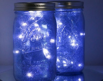galaxy mason jar luminary