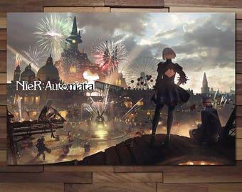 Nier Automata Theme Part 2B 9S Poster - Canvas
