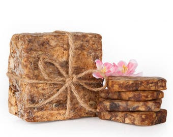 Two Raw African Black Soap