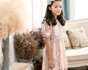 Mother and Daughter matching dress-Floral Fit & Flare Dress (toddler/girl)-Preorder item, shipped by 3/20-