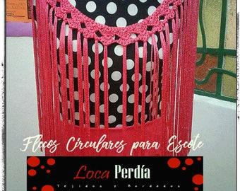 Fringes for Flamenco dance necklace