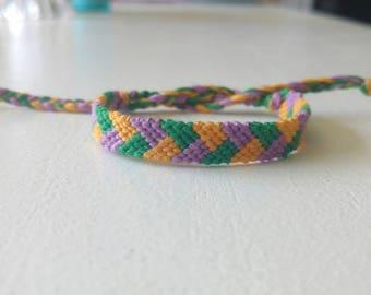 Tri Coloured Braid Friendship Bracelet