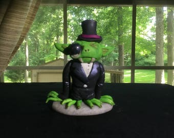 Gothic Mr. Hyde monster - polymer clay