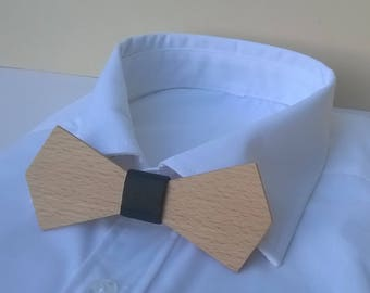 Armstrong. For special occasions. Beech dressed with a black satin bow. Made in France wedding gift chic L