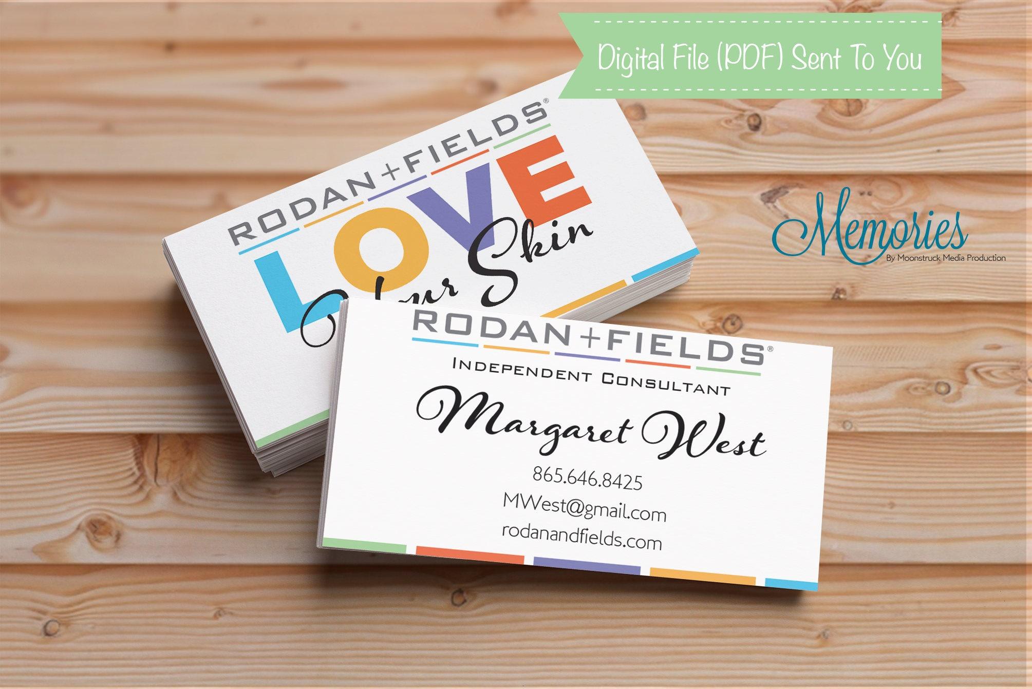 rodan fields business card rf business card independent