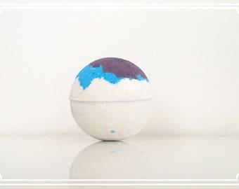 Twilight Clouds- Blue/Purple/White bath bomb