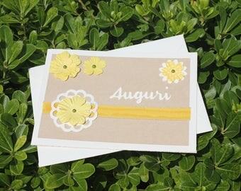 Wedding Greeting Card in Yellow