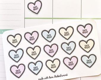 Date Night Planner Stickers
