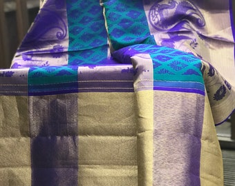 Designer Handwoven Pure Silk Kanjivaram Saree - Wedding Special