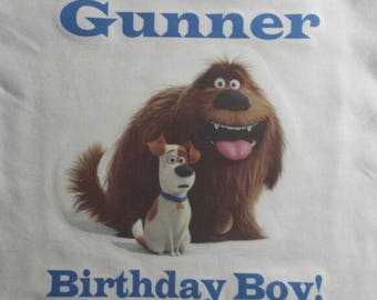 Secret Life of pets Birthday Shirt