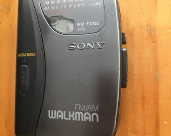 Sony walkman WM-FX163,  Radio music cassette tape player ,  Personal stereo FM/AM,