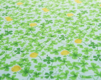 Heather Ross Briar Rose Cricket Clover (Yellow) by the Fat Quarter (FQ)