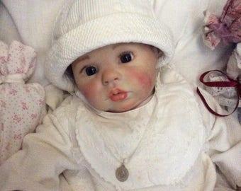 Baby Reborn 50 cm dressed christening gown