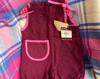 NOS Soviet Estonia USSR 80s vintage baby body / bodysuit / overalls with tags by Sulev
