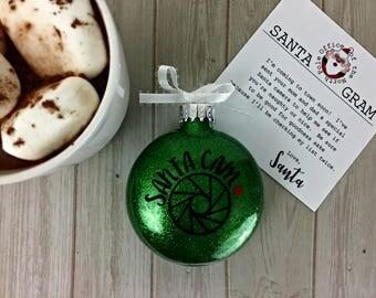 Santa Cam Ornament, Santa Camera Ornament, Christmas ornament for kids, Christmas gift for mom, Personalized Christmas Ornament