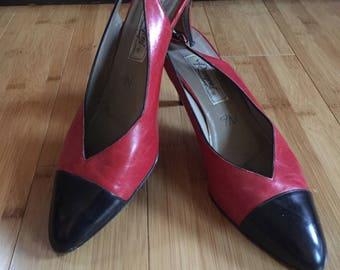 Vintage Spectator heels  Red And Black