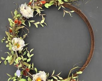 Rusty Barrel Ring Wreath