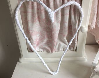 Large shabby chic heart