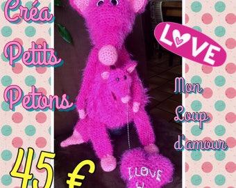 My Wolf of love crochet blanket