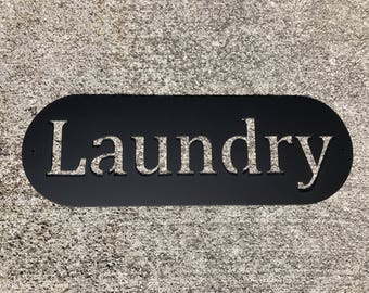 Metal Laundry Sign   Laundry Decor   Laundry Room Decor   Home Decor