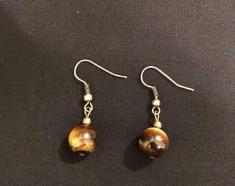 Tiger Eye Gemstone Earrings