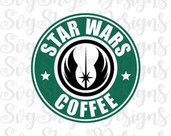 Star Wars Coffee Svg, Monogram Frame Svg,Svg File,Monogram Svg, Frame for Silhouette Cameo Cut Files,Starbucks Svg File, INSTANT DOWNLOAD