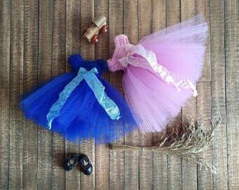 Little Fairy Collection -  blue or pink tutu dress for Middie Blythe