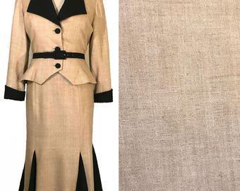Tan Raw Silk Suiting - By the Yard