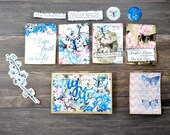 Butterfly and Cherry Blossom Die Cuts - Bible Journaling Die Cuts - Faith Ephemera - Scrapbooking Die Cuts - Journaling Die Cuts