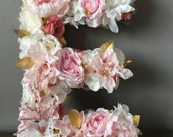 Floral Monogram, Floral Monogram Letter, Dorm Room Decor, Dorm Monogram, Dorm Monogram Initial, Custom Floral Letter, Custom Flower Letter