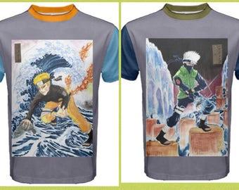 Naruto Kakashi Ukiyo-e T-shirt 2 designs