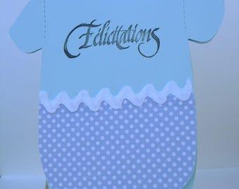 "CARD BODY ""Congratulations"" baby - hand made (17)"