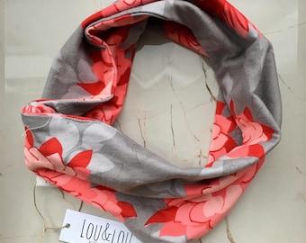 Infinity scarf - flowers